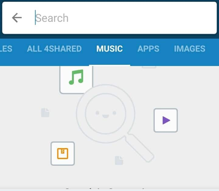 4Shared Music search