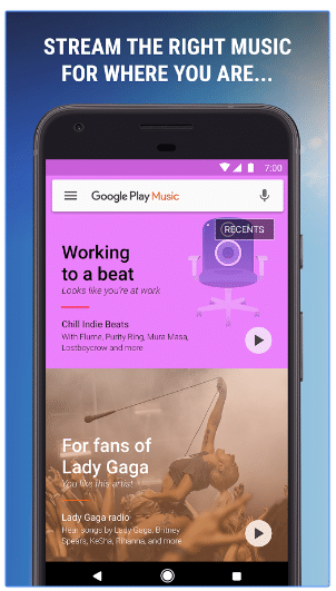 google play music design