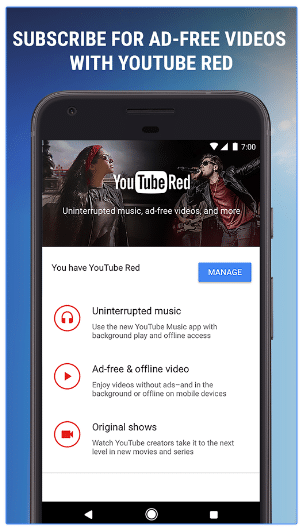 google play youtube red