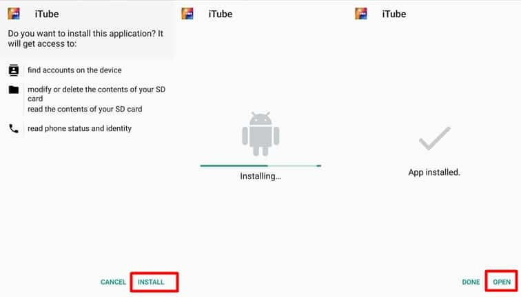 iTube for Android Download APK