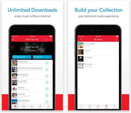 Wynk Music downloads