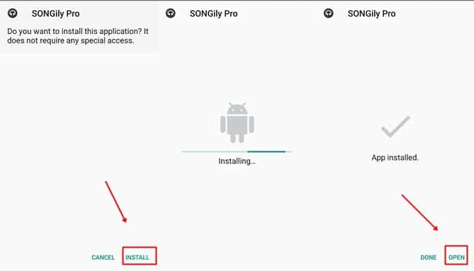 How to Install Songily App