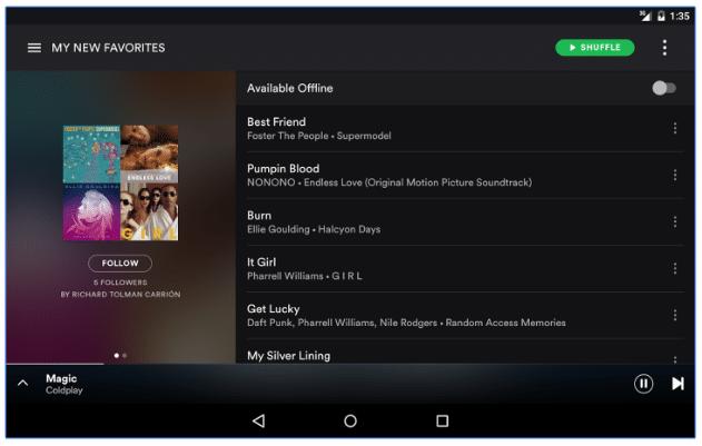 spotify music offline